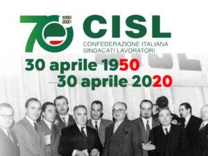 IL 30 APRILE LA CISL COMPIE 70 ANNI